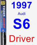 Driver Wiper Blade for 1997 Audi S6 - Vision Saver