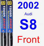 Front Wiper Blade Pack for 2002 Audi S8 - Vision Saver