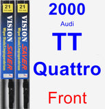Front Wiper Blade Pack for 2000 Audi TT Quattro - Vision Saver