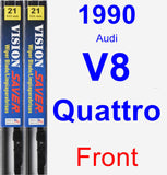 Front Wiper Blade Pack for 1990 Audi V8 Quattro - Vision Saver