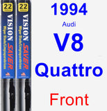 Front Wiper Blade Pack for 1994 Audi V8 Quattro - Vision Saver