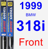 Front Wiper Blade Pack for 1999 BMW 318i - Vision Saver