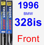 Front Wiper Blade Pack for 1996 BMW 328is - Vision Saver