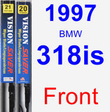Front Wiper Blade Pack for 1997 BMW 318is - Vision Saver