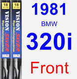 Front Wiper Blade Pack for 1981 BMW 320i - Vision Saver