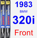 Front Wiper Blade Pack for 1983 BMW 320i - Vision Saver