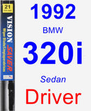 Driver Wiper Blade for 1992 BMW 320i - Vision Saver