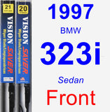 Front Wiper Blade Pack for 1997 BMW 323i - Vision Saver