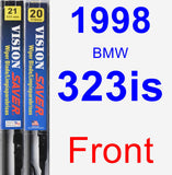 Front Wiper Blade Pack for 1998 BMW 323is - Vision Saver