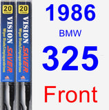 Front Wiper Blade Pack for 1986 BMW 325 - Vision Saver