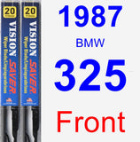 Front Wiper Blade Pack for 1987 BMW 325 - Vision Saver