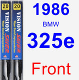 Front Wiper Blade Pack for 1986 BMW 325e - Vision Saver