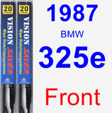 Front Wiper Blade Pack for 1987 BMW 325e - Vision Saver