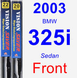 Front Wiper Blade Pack for 2003 BMW 325i - Vision Saver