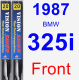 Front Wiper Blade Pack for 1987 BMW 325i - Vision Saver