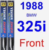 Front Wiper Blade Pack for 1988 BMW 325i - Vision Saver