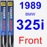 Front Wiper Blade Pack for 1989 BMW 325i - Vision Saver