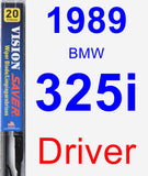 Driver Wiper Blade for 1989 BMW 325i - Vision Saver