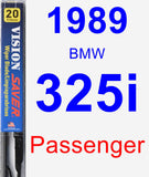 Passenger Wiper Blade for 1989 BMW 325i - Vision Saver
