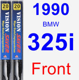 Front Wiper Blade Pack for 1990 BMW 325i - Vision Saver