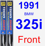 Front Wiper Blade Pack for 1991 BMW 325i - Vision Saver