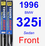 Front Wiper Blade Pack for 1996 BMW 325i - Vision Saver