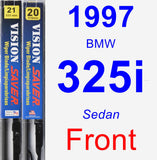 Front Wiper Blade Pack for 1997 BMW 325i - Vision Saver