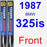 Front Wiper Blade Pack for 1987 BMW 325is - Vision Saver