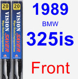 Front Wiper Blade Pack for 1989 BMW 325is - Vision Saver