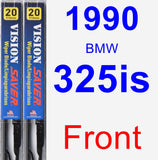 Front Wiper Blade Pack for 1990 BMW 325is - Vision Saver