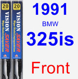 Front Wiper Blade Pack for 1991 BMW 325is - Vision Saver