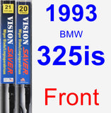 Front Wiper Blade Pack for 1993 BMW 325is - Vision Saver