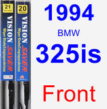 Front Wiper Blade Pack for 1994 BMW 325is - Vision Saver