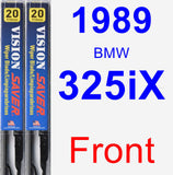 Front Wiper Blade Pack for 1989 BMW 325iX - Vision Saver