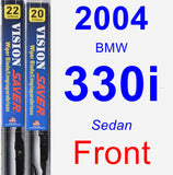 Front Wiper Blade Pack for 2004 BMW 330i - Vision Saver