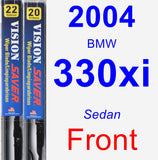 Front Wiper Blade Pack for 2004 BMW 330xi - Vision Saver