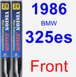 Front Wiper Blade Pack for 1986 BMW 325es - Vision Saver