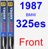 Front Wiper Blade Pack for 1987 BMW 325es - Vision Saver