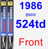 Front Wiper Blade Pack for 1986 BMW 524td - Vision Saver