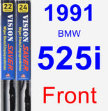 Front Wiper Blade Pack for 1991 BMW 525i - Vision Saver
