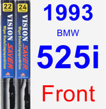 Front Wiper Blade Pack for 1993 BMW 525i - Vision Saver