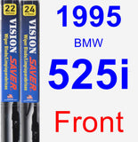 Front Wiper Blade Pack for 1995 BMW 525i - Vision Saver