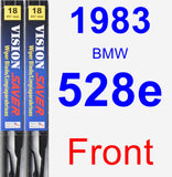 Front Wiper Blade Pack for 1983 BMW 528e - Vision Saver