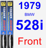 Front Wiper Blade Pack for 1979 BMW 528i - Vision Saver