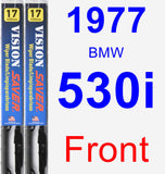 Front Wiper Blade Pack for 1977 BMW 530i - Vision Saver