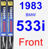 Front Wiper Blade Pack for 1983 BMW 533i - Vision Saver