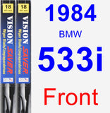 Front Wiper Blade Pack for 1984 BMW 533i - Vision Saver