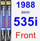 Front Wiper Blade Pack for 1988 BMW 535i - Vision Saver