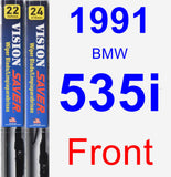 Front Wiper Blade Pack for 1991 BMW 535i - Vision Saver