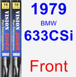 Front Wiper Blade Pack for 1979 BMW 633CSi - Vision Saver